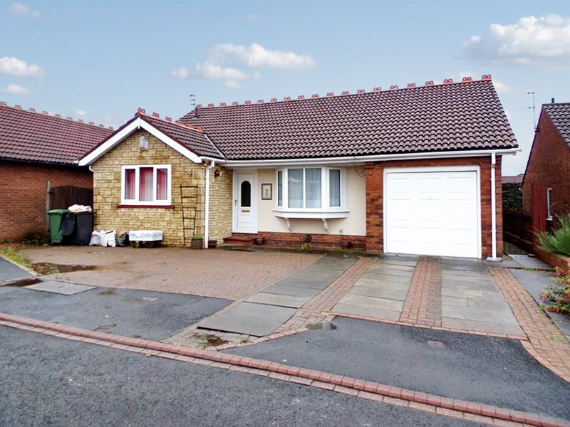 3 Bedrooms Bungalow for sale in Chaffinch Court, Ashington, Ashington, Northumberland, NE63 8LJ