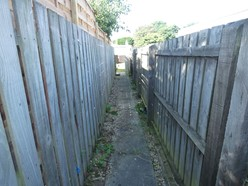Image of Private pathway to parking spaces